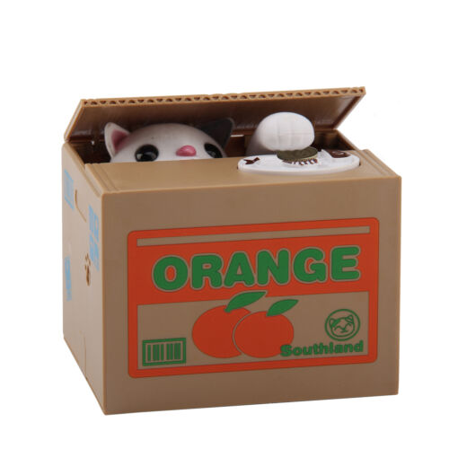 Panda stealing coin money cat penny cents piggy bank saving box kids gift uk ebay - Coin stealing cat piggy bank ...