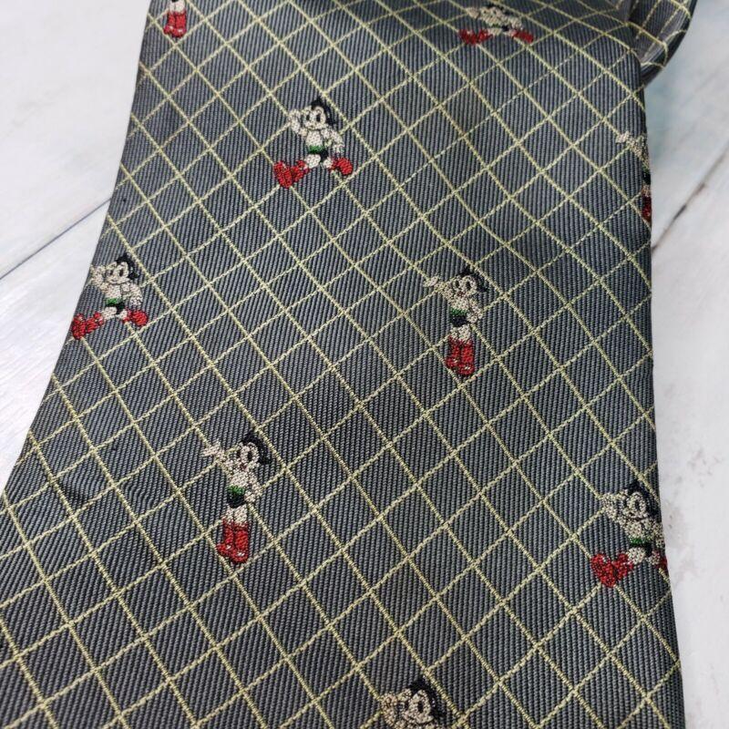 Vintage Rare Astro Boy Tezuka Productions Blue Gray Neck Tie