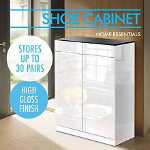 High Gloss Shoe Cabinet Rack Storage Organiser Shelf Cupboard Melbourne CBD Melbourne City Preview
