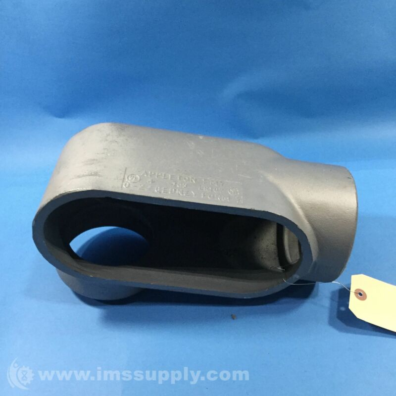 Appleton LR107 Conduit Body, 4 Inch, Malleable Iron USIP