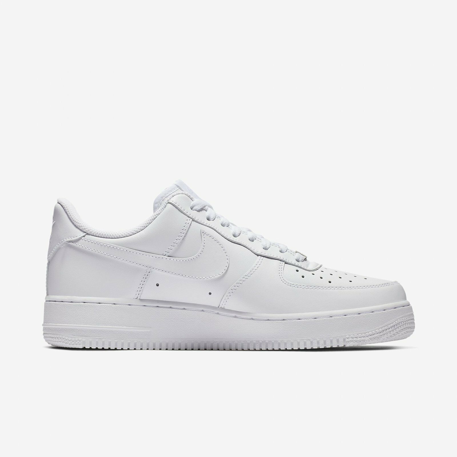 Nike Women's Air Force 1 '07 Triple White 2019 Casual Shoes WMNS New 315115-112 1
