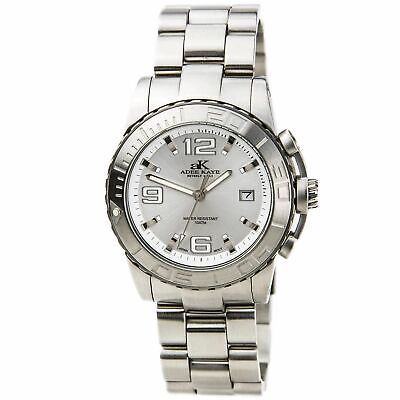 Adee Kaye Men's Watch Quartz Stainless Steel Bracelet AK5002-M White, used for sale  Shipping to South Africa