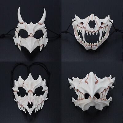 Japan Demon Samurai Kabuki Oni Ninja Tengu Dragon Yaksa Tiger Mask Resin Cosplay](Oni Mask)