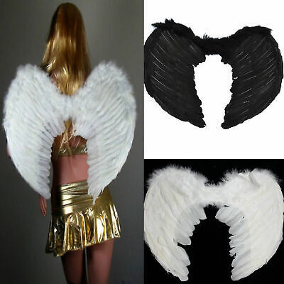 Fairy Wings For Adults (Adults Kids Feather Wings Angel Fairy Fancy Dress Costume Christmas Party)