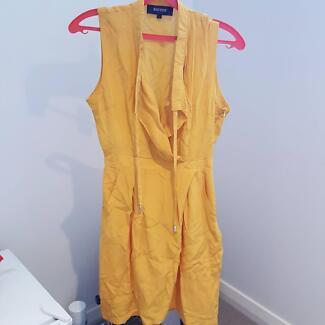 Brand new oxford dress 100% silk
