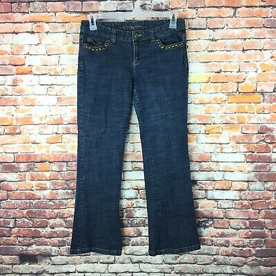 Michael Kors Womens Size 6 Petite Flare Leg Dark Wash Denim Jeans - Michael Kors Petite Jeans