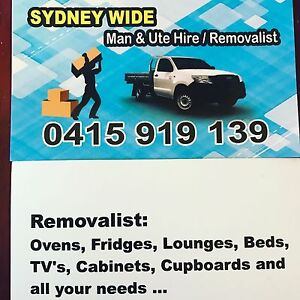 Manly Area Man And Ute Hire And Removals Manly Area Preview