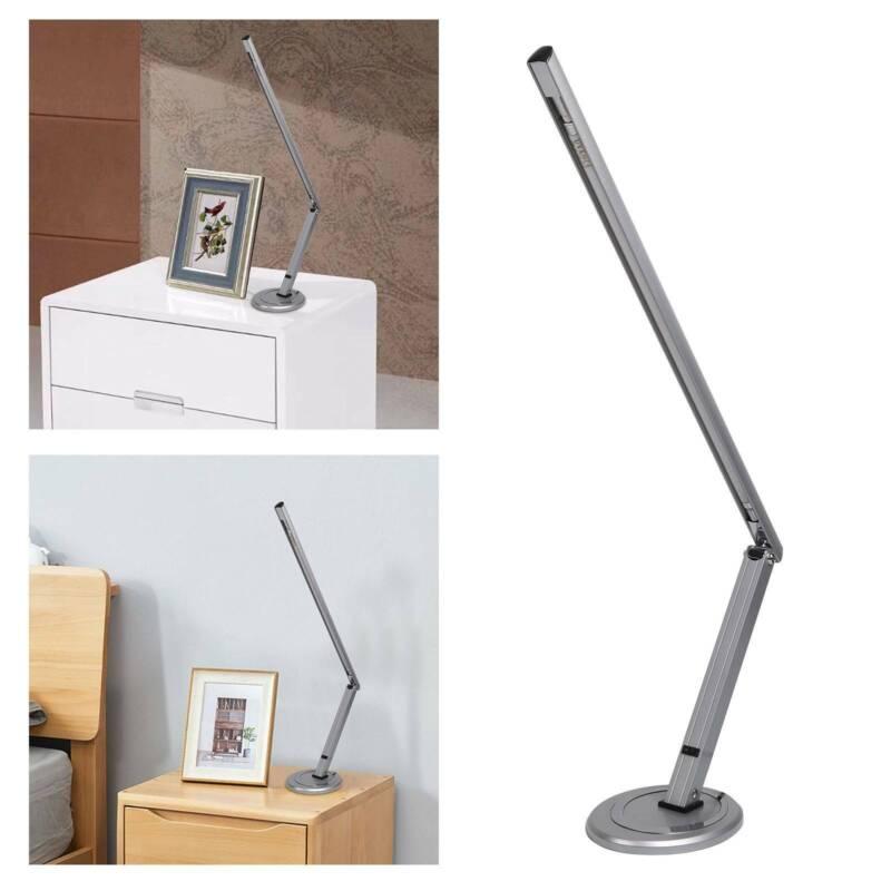 Schreibtischlampe 14 Watt Arbeitsplatzleuchte Gelenkarm Bürolampe Farben Silber