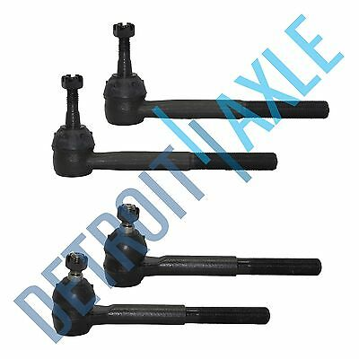 New 4 pc Kit: Outer and Inner Tie Rod Ends for Chevy K1500 Suburban GMC - 4WD