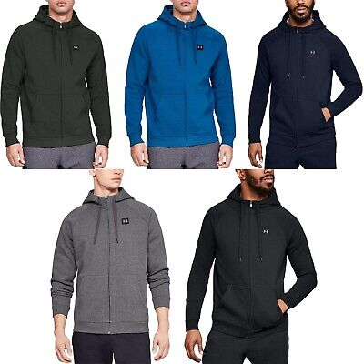 Under Armour Mens Rival Fleece Zipped Hooded Hoody Jacket Sweatshirt Hoodie Top