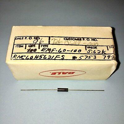 Box Of 96 Vishay Dale Rnc60h5621fs Resistor 0.125w 1 100ppm 5620ohm Free Ship