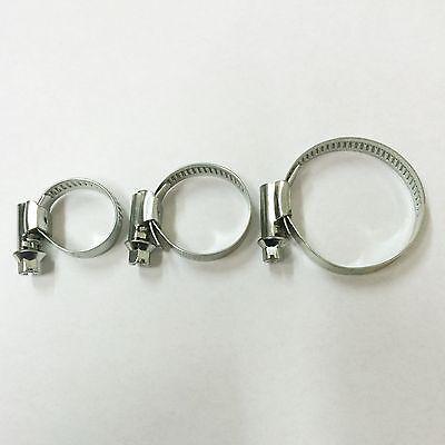 Schlauchschellen V2A W4 Edelstahl Bandbreite 9-13mm  Ø 10-16 bis 140-160 mm  Edelstahl 13