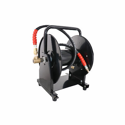 5000 Psi 38 X 200 Hose Reel For High Pressure Power Washer And Sewer Jetter
