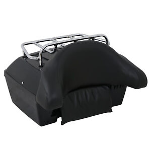48L Motorcycle Tour Tail Box Scooter Trunk Luggage Top Lock Storage Carrier Case