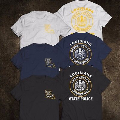 New Louisiana Police United States Department Justice Tee T Shirt S 3Xl