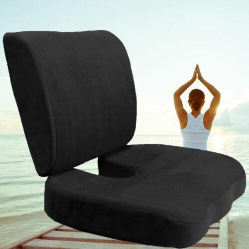Memory Foam Coccyx Orthoped Seat Cushion Back Support Lumbar