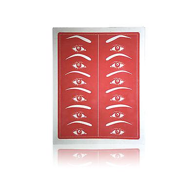 Permanent Makeup Nadel Übungshaut flach rot  verschiedene Stückzahlen ()