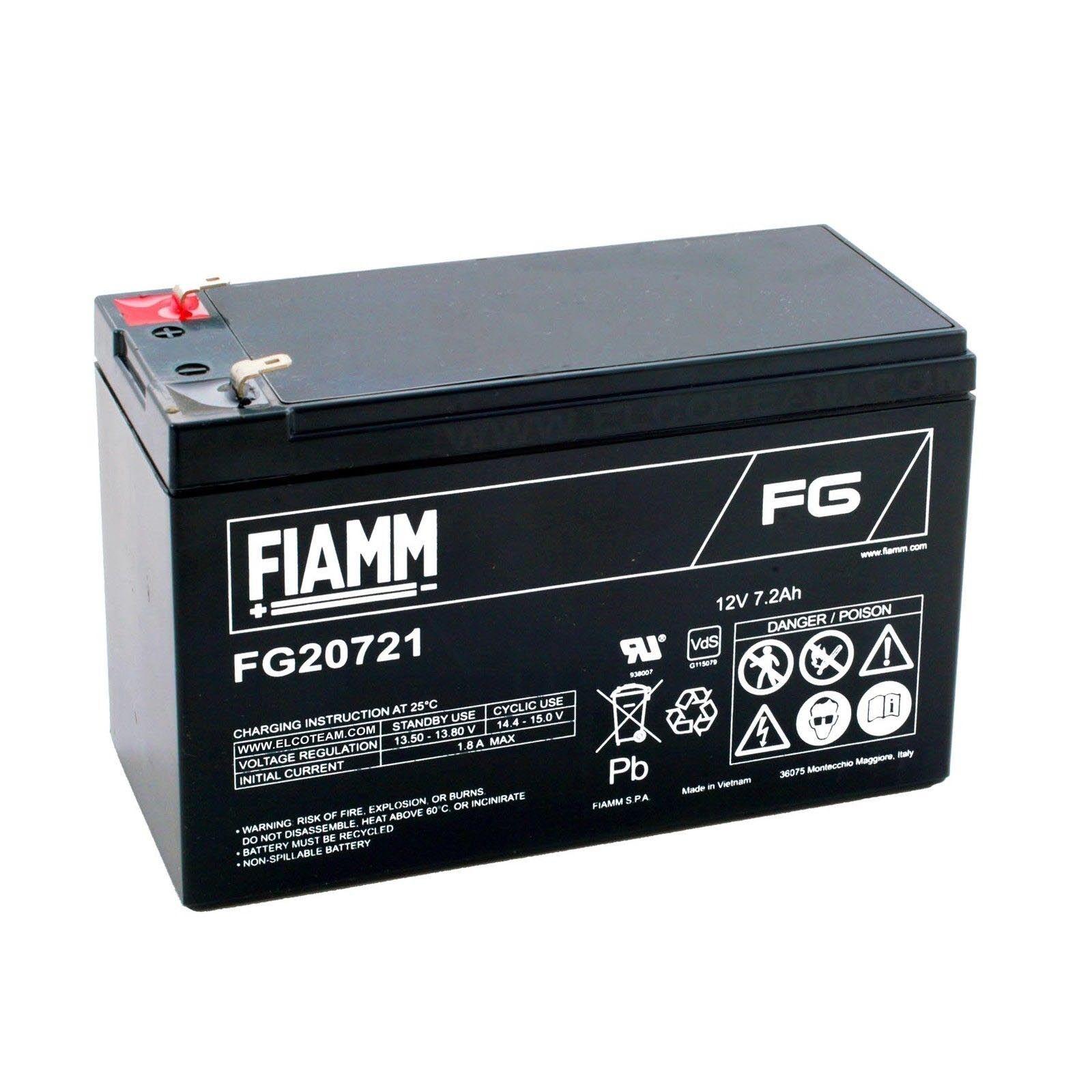 Fiamm FG20721 Batteria al piombo ricaricabile 12V 7,2Ah faston 4,8mm FIAMM