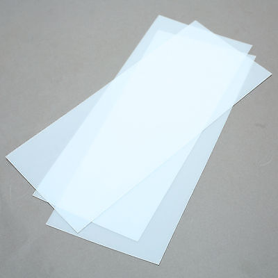 Polycarbonate Sheets 0.02 0.5mm Thick Clear 11 X 4-78 Pack Of 3