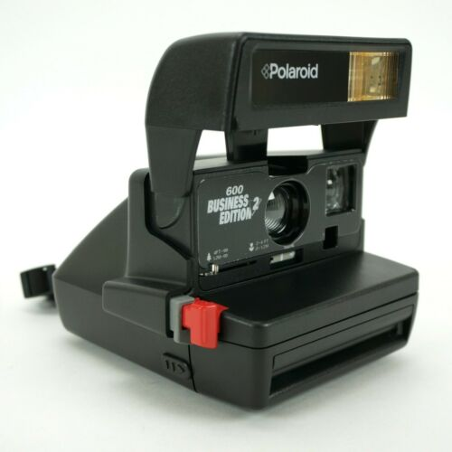 POLAROID One Step 600 Business Edition 2 Close Up Flash w/ Strap & Tripod Mount