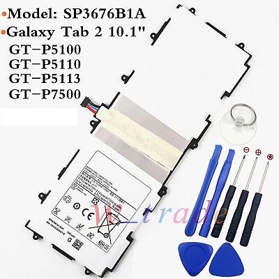 New Battery SP3676B1A For Samsung Galaxy Tab 2 10.1 GT-P5100 P5110 P5113 (New Battery For Samsung Galaxy Tab 2 10-1)