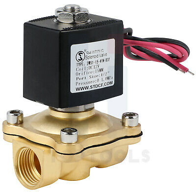 1212v Dc Brass Electric Solenoid Valve Nbr For Water Air Gas Fuel Nc
