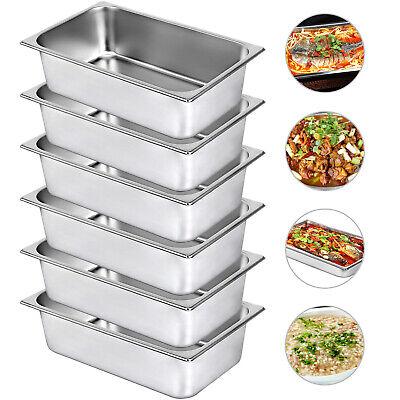 6-pan Full Size 6 Deep Steam Table Pans Catering Food Warmer Buffet Bain-marie