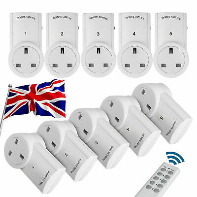Wireless Remote Control Sockets UK Electrical Plug Adapter Outlet UK Supplier