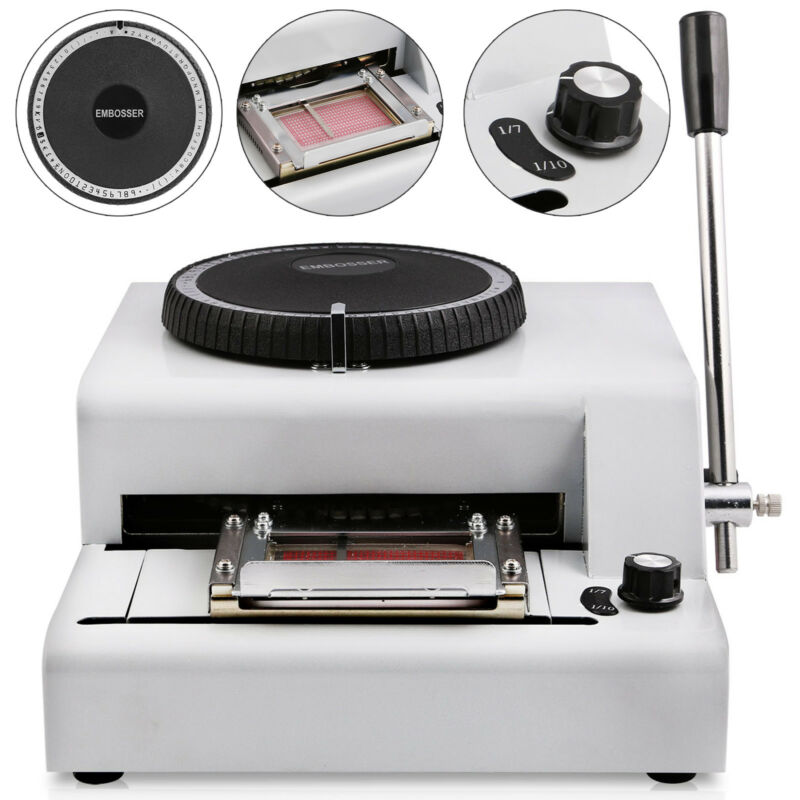 72 Letter Manual Embosser Machine Printer Credit Card/ID/VIP Embosser New