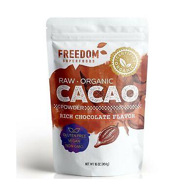 Cacao Powder, Organic Raw. Best Dark Chocolate Taste. Pure Natural (Best Tasting Cocoa Powder)