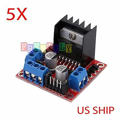 5X Dual H Bridge DC Stepper Motor Drive Controller Board Module Arduino L298N