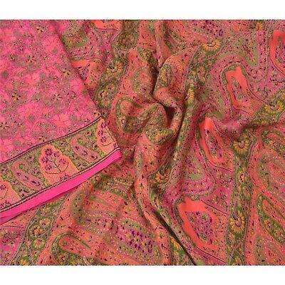 34 Yard Abstract Sari Silk Fabric