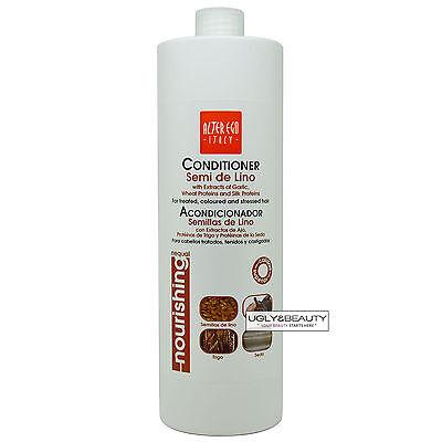 Wheat Protein Conditioner - Alter Ego Semi De Lino Hair Conditioner w/Garlic, Wheat and Silk Proteins 1000ml