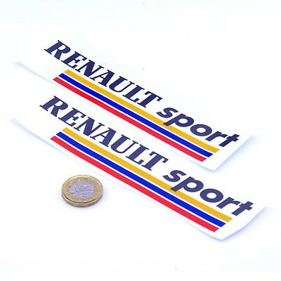 Renault Sport RS Stickers Car Vinyl Decals 150mm x2 Megane RS Clio RS