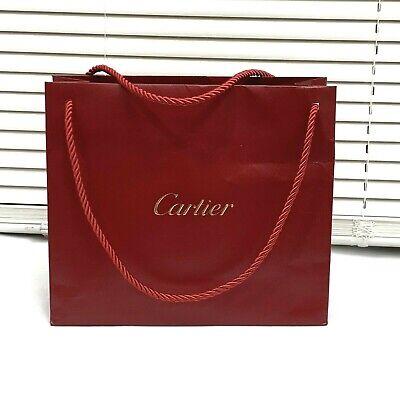 Cartier 10 x 9 x 3.5 Shopping Bag Gift Tote Paper Bag