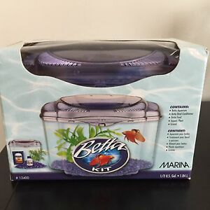 Betta Fish Kit with Light & Accessories  - $25