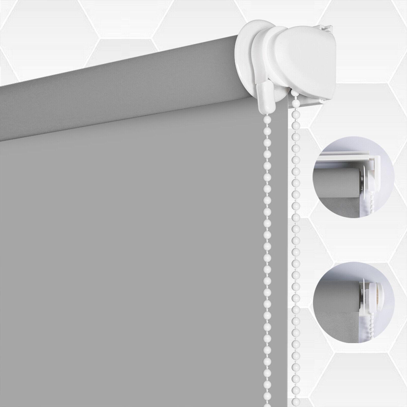 LUCKUP 100% Blackout Waterproof Fabric Window Roller Shades