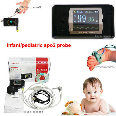 Contec Pulse Oximeter Cms60cinfantpediatric Spo2 Probealarm Rechargable Ce