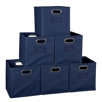File Storage Bins 6 Cube Closet Organizers And Toy Square Foldable Fabric 12X12