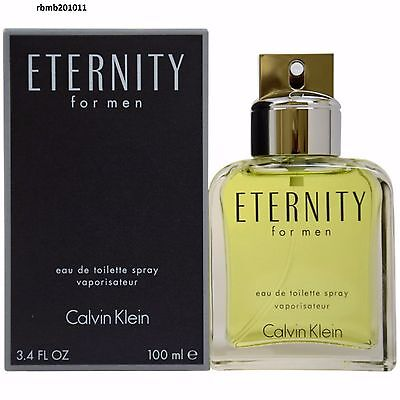 Eternity Cologne Perfume by Calvin Klein 3.4 oz 100 ml EDT Spray Men New Sealed