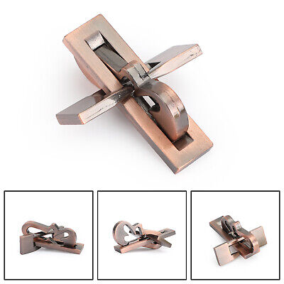 Vintage Alloy Puzzle Box Metal Lock Toys IQ Mind Brain Teaser Game Plane Lock Mind Teaser Puzzles