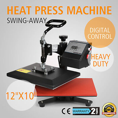 12x10 Digital Heat Press Machine T-shirt Sublimation 360 Swing Away Transfer