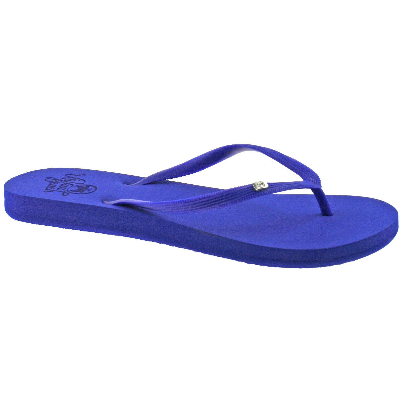 Ladies Urban Beach Wight Blue Toe Post Flip Flops Sandals -2562