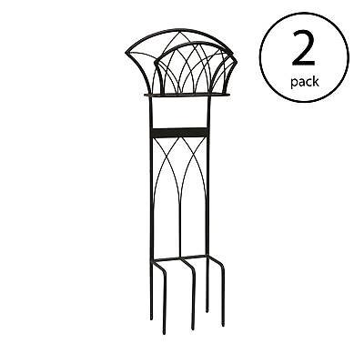 Liberty Garden Steel Decorative Garden Hose Stand with Gothic Design (2 Pack)
