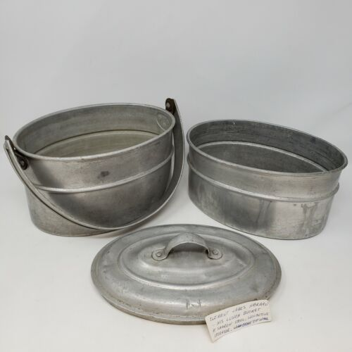 Vintage Wear-Ever Aluminum Miner Lunch Pail Box w/ Provenance Sharon Steel Corp