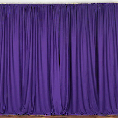 PURPLE 10 x 10 ft Polyester BACKDROP CURTAINS Drapes Panels Home Decorations