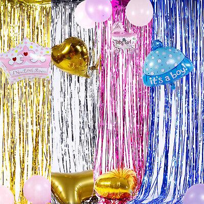 Glänzend Lametta Türvorhang 200x100 cm Tür Vorhang Fransen Folie Raumdekoration