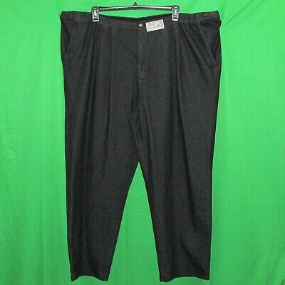 """King Size men's black jeans pants, size 50(52)x30.5"""", cotton, waist extenders 1"""