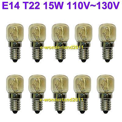 (10pcs E14 T22 15W 110V~130V Oven Bulb Oven Lamp Heat Resistant Bulb 300'C)