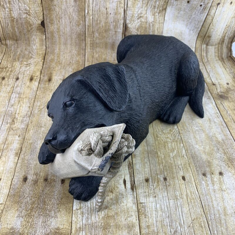 Ducks Unlimited 1999 Black Lab Puppy Water Float Figurine Statue Life Sized